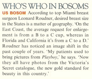 Dr Leonard Roudner whos who in bosoms article