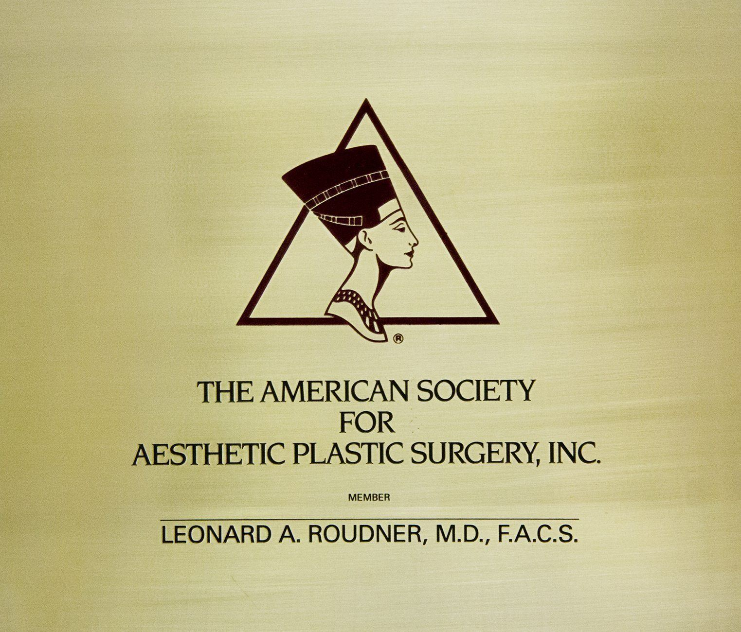 Member of the American Society for Aesthetic Plastic Surgery